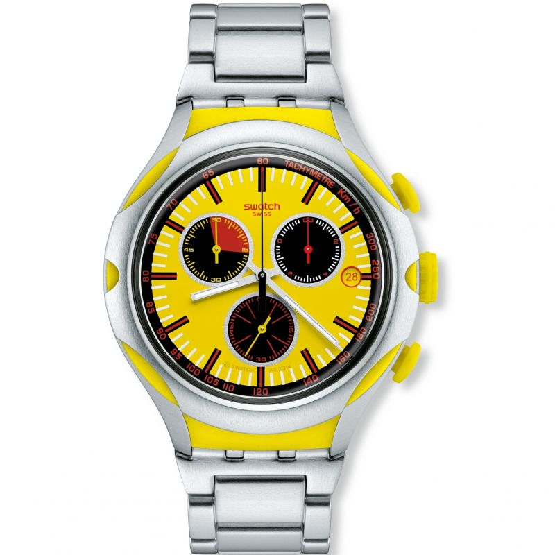 Mens Swatch Irony X-Lite - Lemon Squash Chronograph Watch