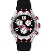 Mens Swatch Irony X-Lite - Red Wheel Chronograph Watch