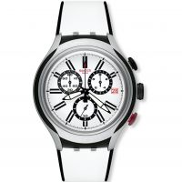 Mens Swatch Irony X-Lite - Black Wheel Chronograph Watch