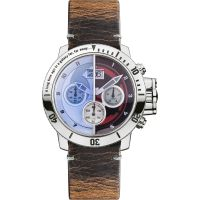 Character Star Wars Gents Light Dark Side Herenhorloge Bruin STAR314