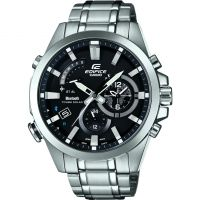 Mens Casio Edifice Time Traveller Bluetooth Hybrid Smartwatch Alarm Chronograph Watch