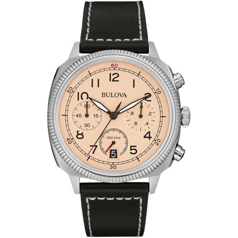 Mens Bulova Military UHF Chronograph Watch