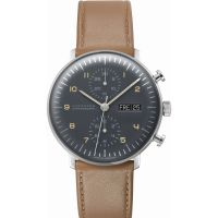 homme Junghans Max Bill Chronoscope Chronograph Watch 027/4501.00