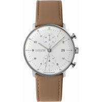 homme Junghans Max Bill Chronoscope Chronograph Watch 027/4502.00