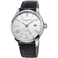 Herren Frederique Constant klassisch Index GMT Automatik Uhr