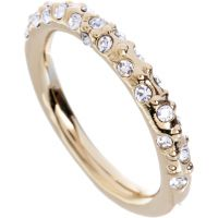 Damen Karen Millen PVD Gold überzogen Kristall Sprinkle Ring groß