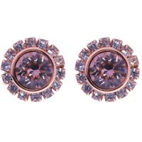 Ladies Ted Baker PVD rose plating Sully Crystal Chain Stud Earring