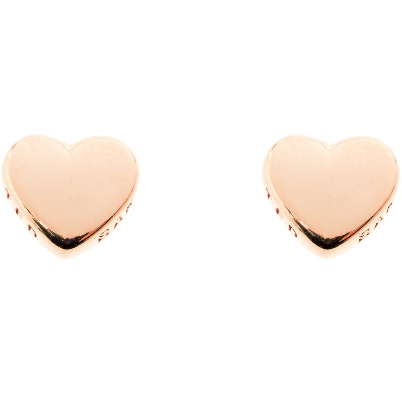 Ladies Ted Baker PVD rose plating Harly Tiny Heart Stud Earring TBJ872-24-03