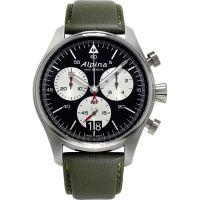 Herren Alpina Startimer Pilot Chronograph Watch AL-372BS4S6