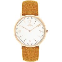 Birline Bickley Rose Gold Unisex horloge Geel BIR001109