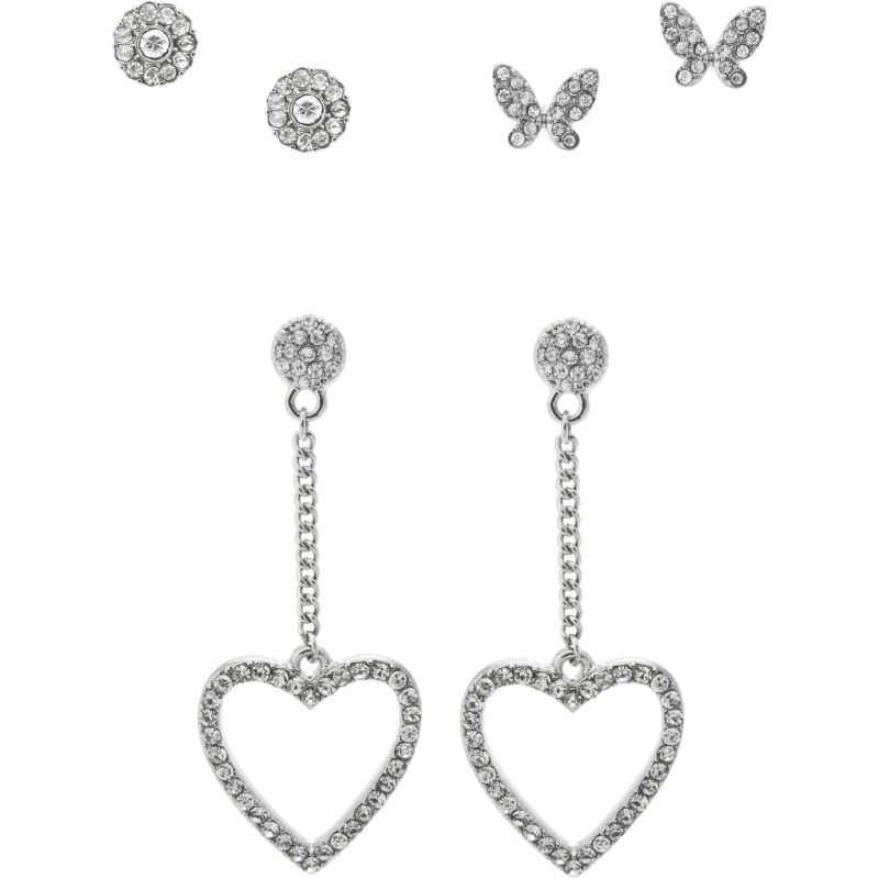 Ladies Lipsy Butterfly & Heart Trio Earrings LYW505259506088