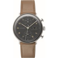 homme Junghans max bill Chronoscope Chronograph Watch 027/4501.01