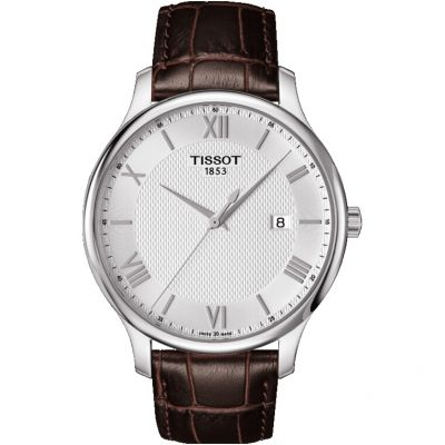 Tissot T-Classic Tradition Herrenuhr in Braun T0636101603800
