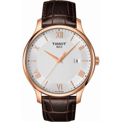 Tissot T-Classic Tradition Herrenuhr in Braun T0636103603800