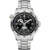 Herren Hamilton Khaki Pilot Worldtimer Chronograf Uhren