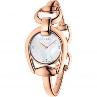 Gucci Horsebit Dameshorloge Rose YA139508