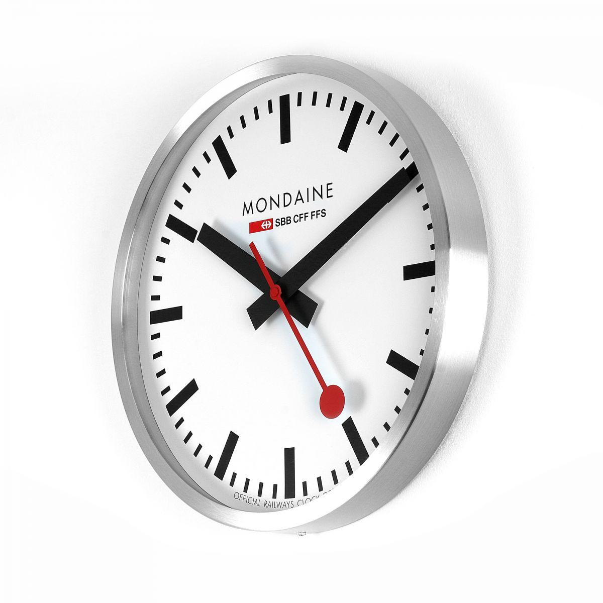 Wanduhr Mondaine Schweizer Railways Gro 223 Wall Clock Uhren
