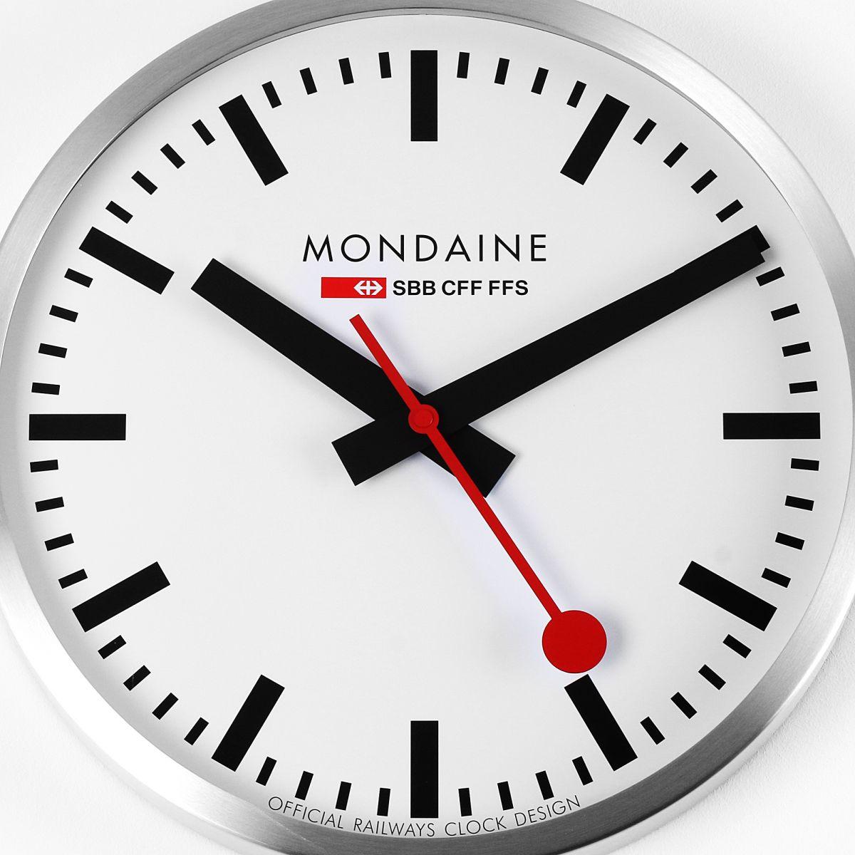 wanduhr mondaine schweizer railways gro wall clock uhren a995. Black Bedroom Furniture Sets. Home Design Ideas