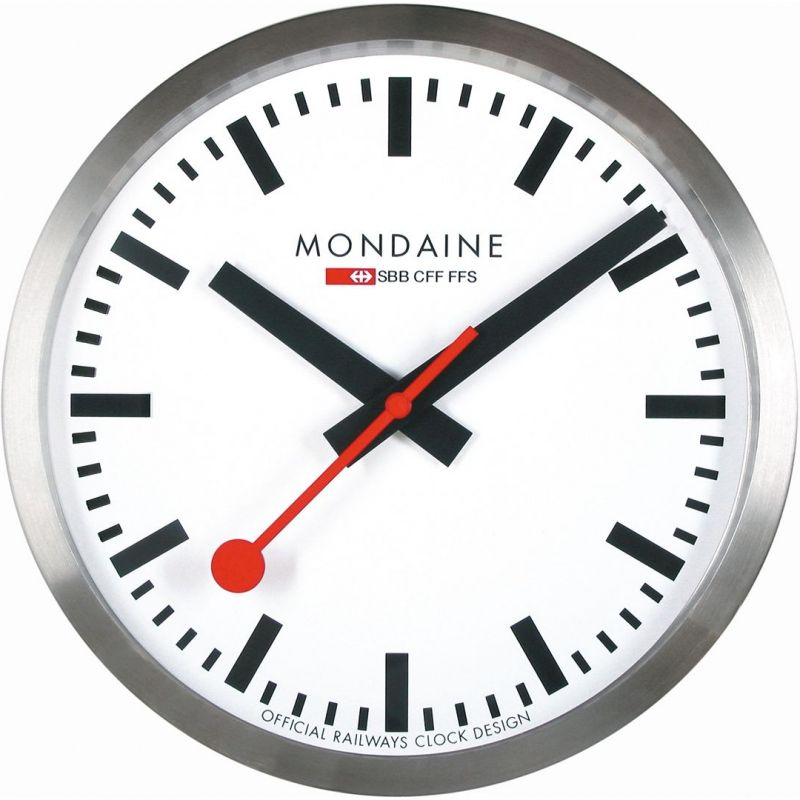 Mondaine Swiss Railways Wall Clock A990.CLOCK.16SBB