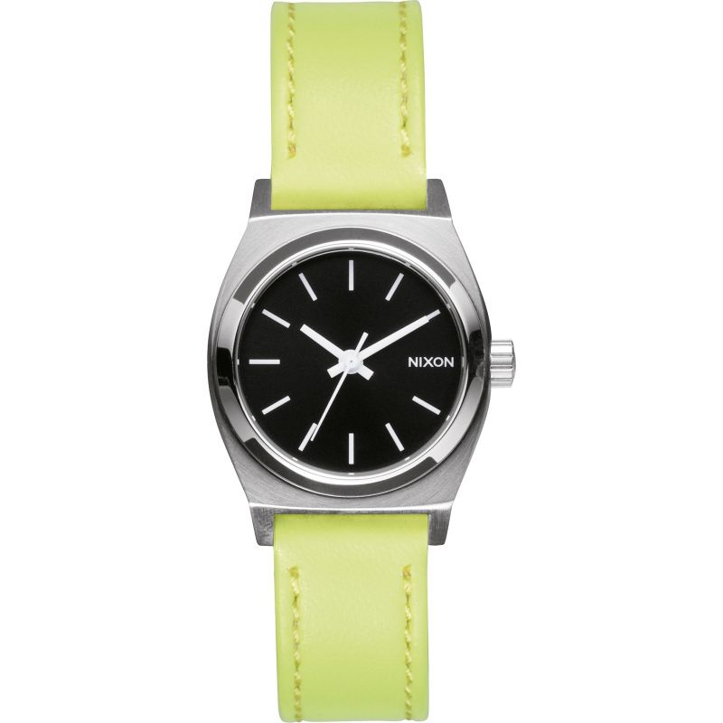 Ladies Nixon The Small Time Teller Leather Watch A509-2080