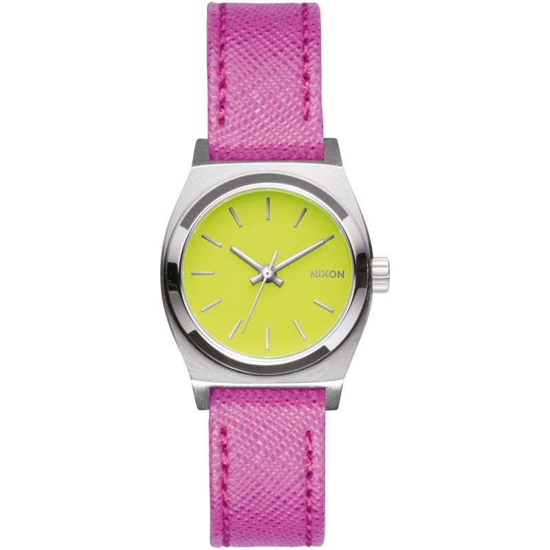 Ladies Nixon The Small Time Teller Leather Watch A509-2081