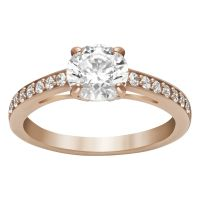 Ladies Swarovski PVD rose plating Size L.5 Attract Ring 52 5184212