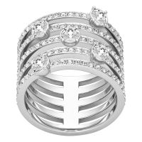 Ladies Swarovski Stainless Steel Size L.5 Creativity Ring 52 5184243