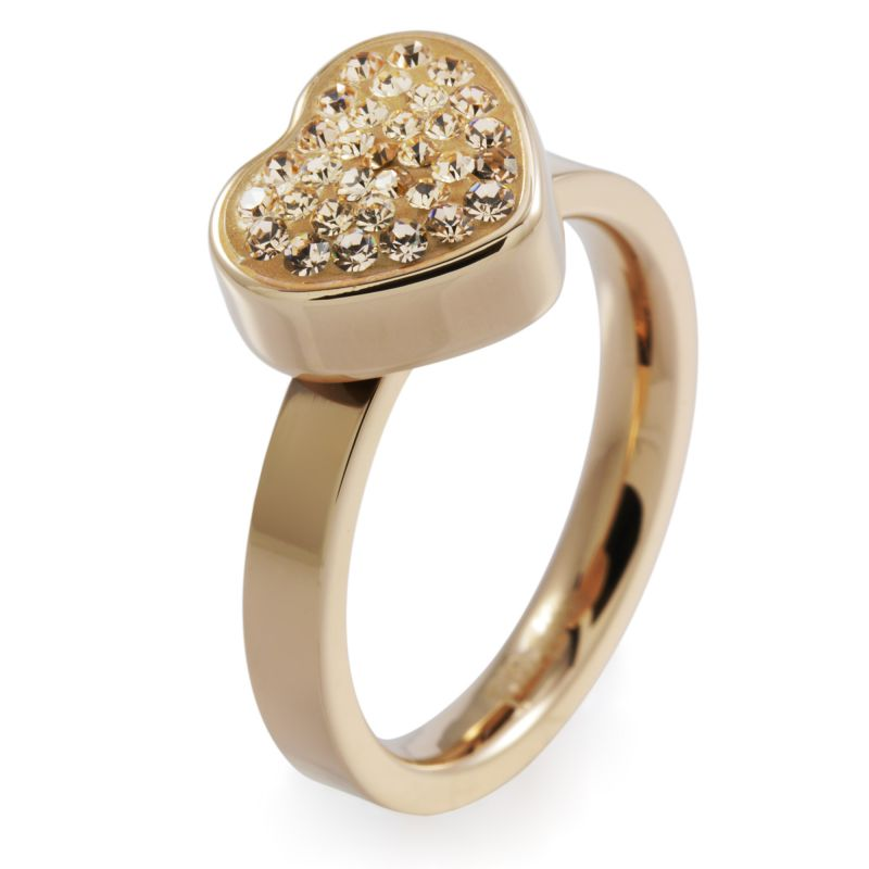 Folli Follie Dames Bling Chic Ring PVD verguld Rose 5045.3107