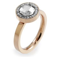 Ladies Folli Follie PVD rose plating Size L.5 Classy Ring 5045.5135