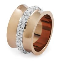Ladies Folli Follie PVD rose plating Size P Dazzling Ring 5045.4527