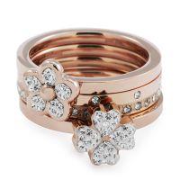 Damen Folli Follie PVD Rosa plating Größe N.5 Winter Wonder Ring