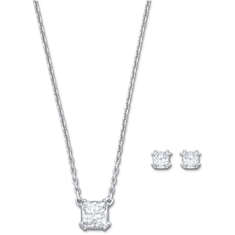 Ladies Swarovski Stainless Steel Attract Necklace Earring Set 5151649