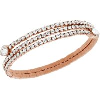 Ladies Swarovski PVD rose plating Twisty Bracelet 5073594