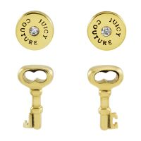 Gioielli da Donna Juicy Couture Jewellery Key And Disc Earrings Set WJW528-710