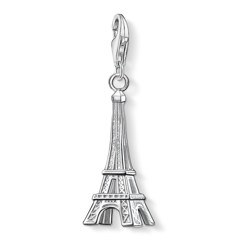Ladies Thomas Sabo Sterling Silver Charm Club Eiffel Tower Charm 0029-001-12