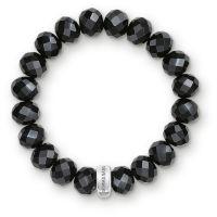 Damen Thomas Sabo Sterlingsilber Anhänger Club Schwarz Obsidian Armband