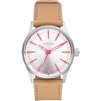 Ladies Nixon The Sentry 38 Leather Watch