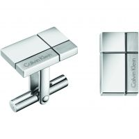 Mens Calvin Klein Stainless Steel Constructed Cufflinks KJ3PMC090100