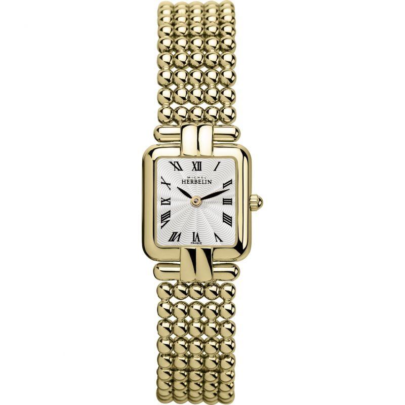 Damen Michel Herbelin Classic Perles Watch 17473/BP08