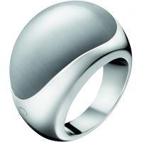 Damen Calvin Klein Edelstahl Größe P Closed Ring