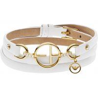 Damen Emporio Armani Sterlingsilber & Leder Armband