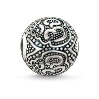 femme Thomas Sabo Jewellery Karma Beads Om Bead Watch K0042-001-12