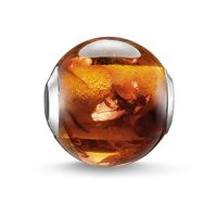 Ladies Thomas Sabo Sterling Silver Karma Beads - Amber Bead K0130-700-2