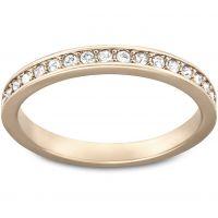 Ladies Swarovski PVD rose plating Size Q Rare Ring 58 5032901
