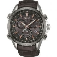Seiko Astron GPS Herenchronograaf Bruin SSE023J1