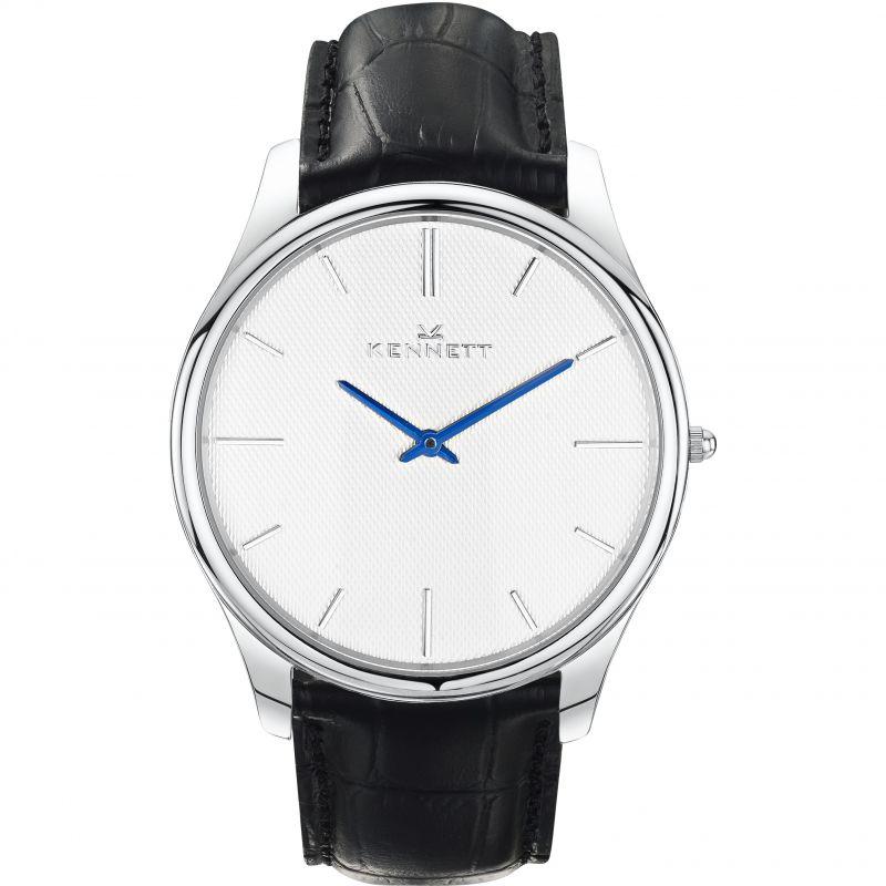 Mens Kennett Kensington Silver White Black Watch