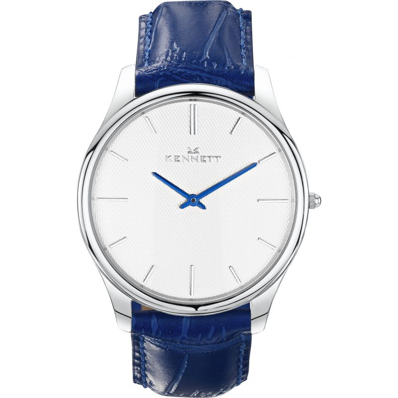 Mens Kennett Kensington Silver White Royal Blue Watch