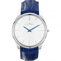 Mens Kennett Kensington Silver White Royal Blue Watch
