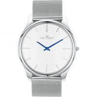 Herren Kennett Kensington Silber Weiß Milanaise-Geflecht  Uhr