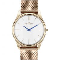 Mens Kennett Kensington Rose Gold White Milanese Watch